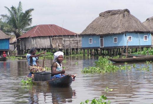 شهر GANVIE در آفریقا